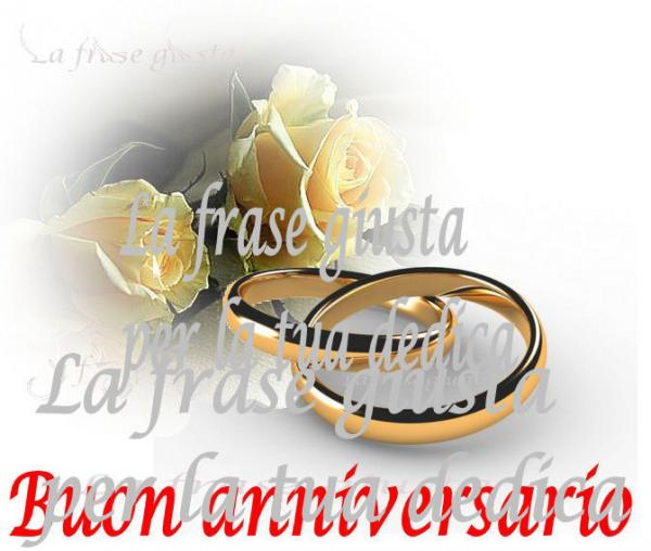Popolare Anniversario matrimonio | La frase giusta EX46